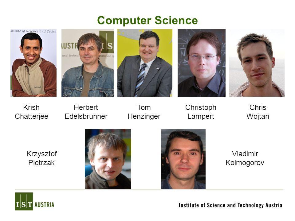 Computer Science Krish Chatterjee Herbert Edelsbrunner Christoph Lampert Tom Henzinger Chris Wojtan Krzysztof Pietrzak Vladimir Kolmogorov