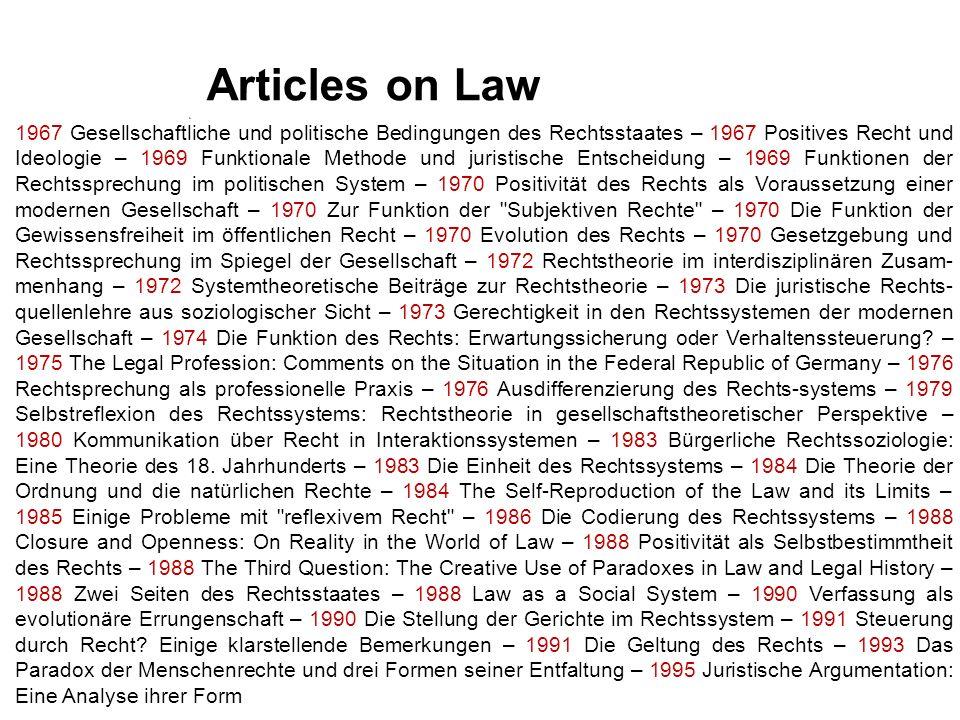 www.helsinki.fi/katti/foundations sabine.frerichs@helsinki.fi Articles on Law 1967 Gesellschaftliche und politische Bedingungen des Rechtsstaates – 19