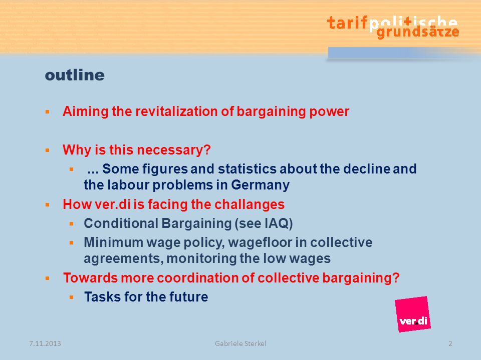 outline Aiming the revitalization of bargaining power Why is this necessary ...