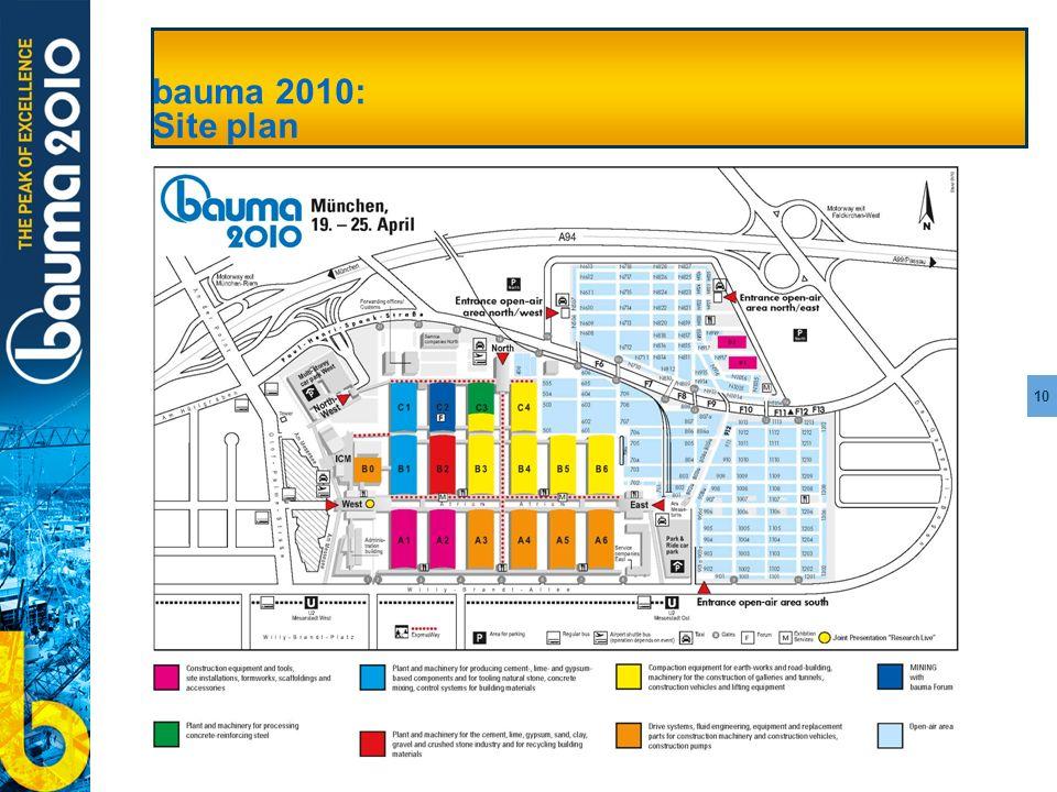 10 bauma 2010: Site plan