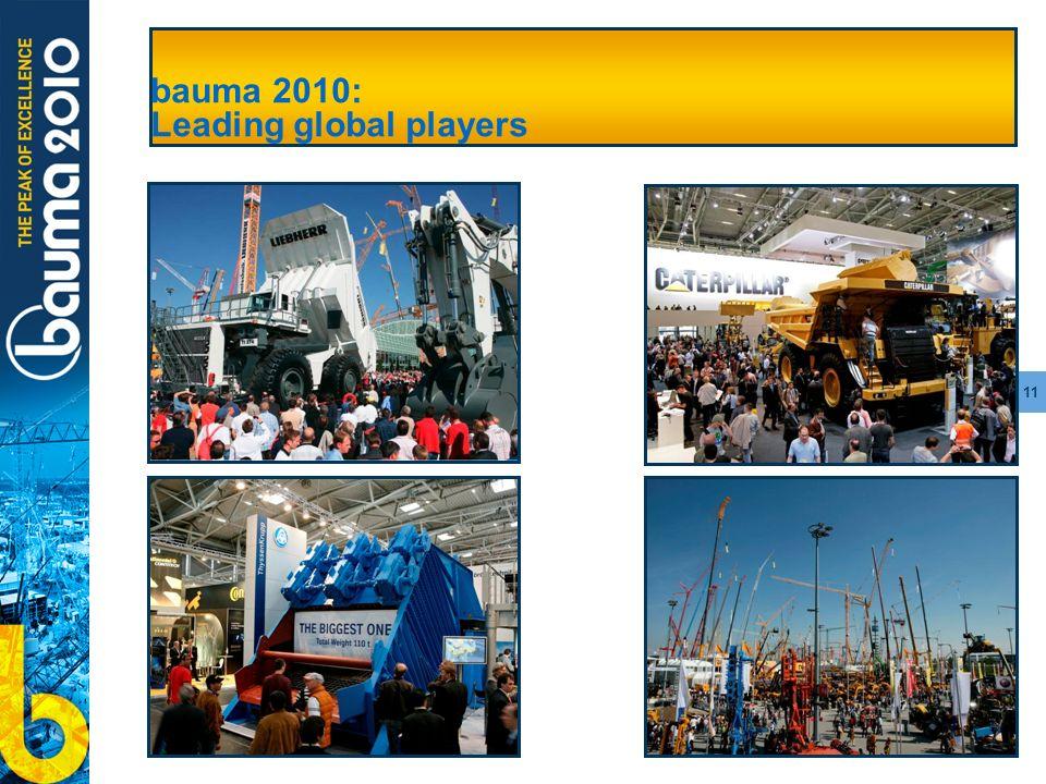 11 bauma 2010: Leading global players