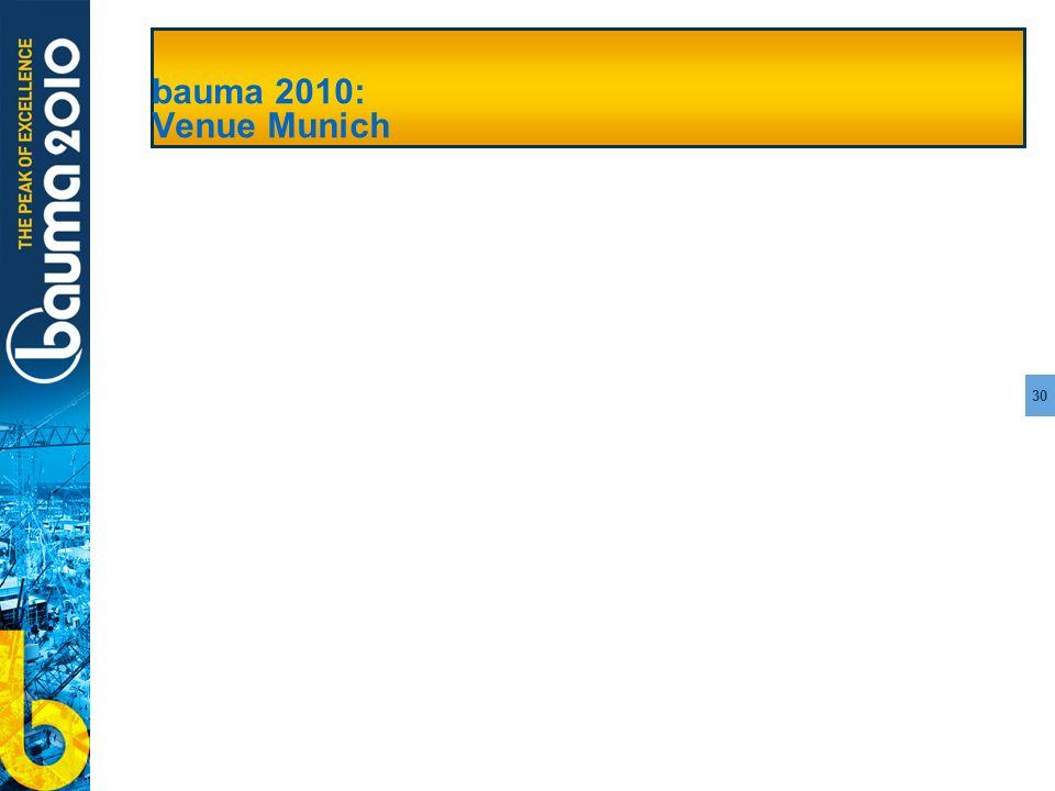 30 bauma 2010: Venue Munich
