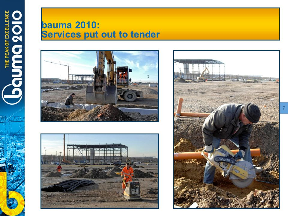 7 bauma 2010: Services put out to tender