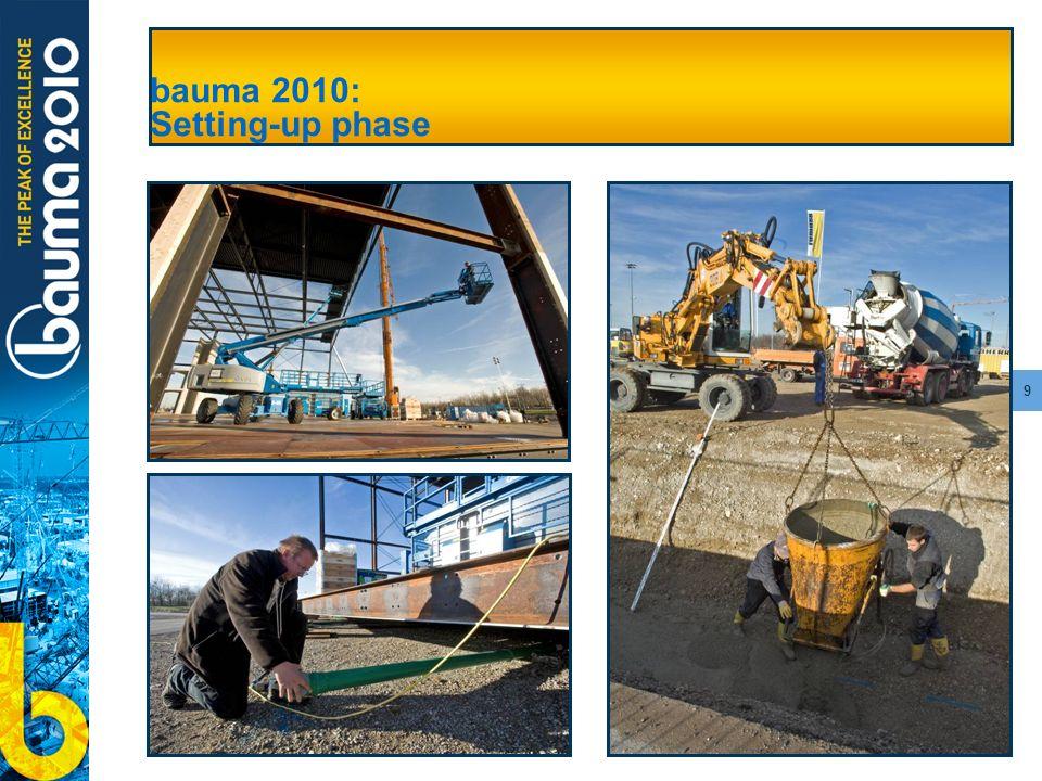 9 bauma 2010: Setting-up phase