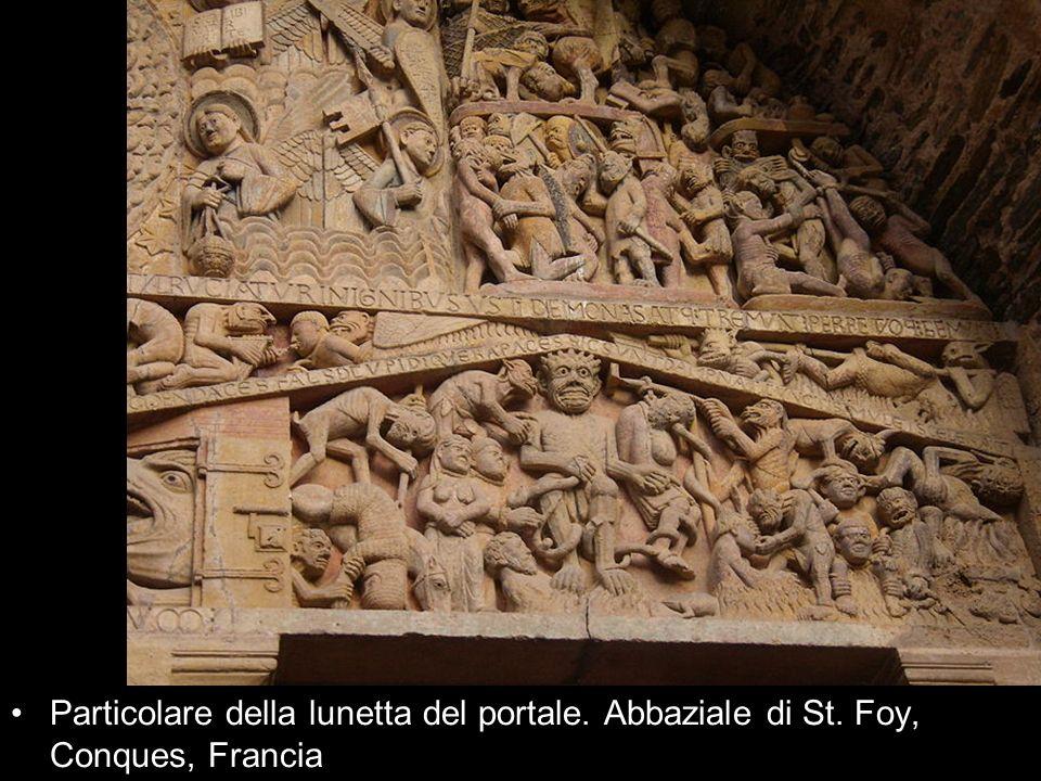 Particolare della lunetta del portale. Abbaziale di St. Foy, Conques, Francia