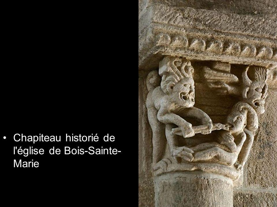 Chapiteau historié de l'église de Bois-Sainte- Marie
