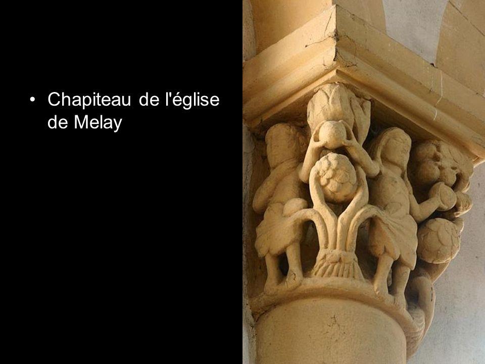 Chapiteau de l'église de Melay
