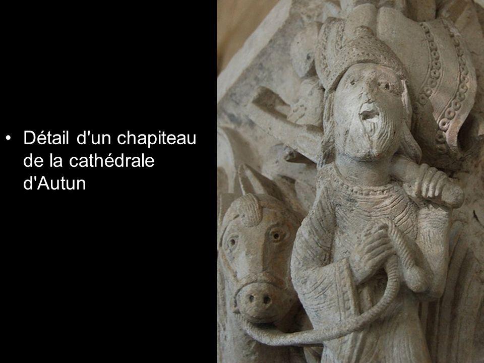 Détail d'un chapiteau de la cathédrale d'Autun