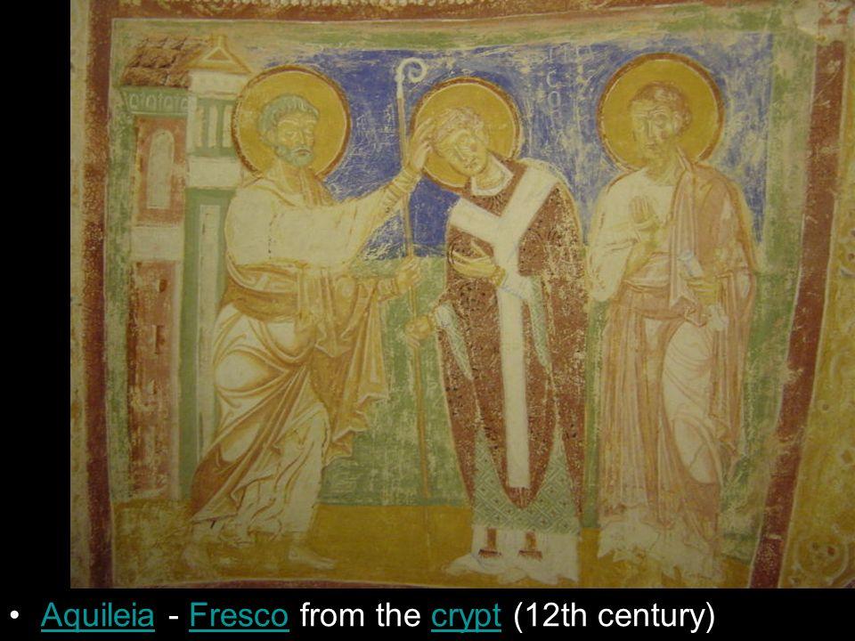 Aquileia - Fresco from the crypt (12th century)AquileiaFrescocrypt