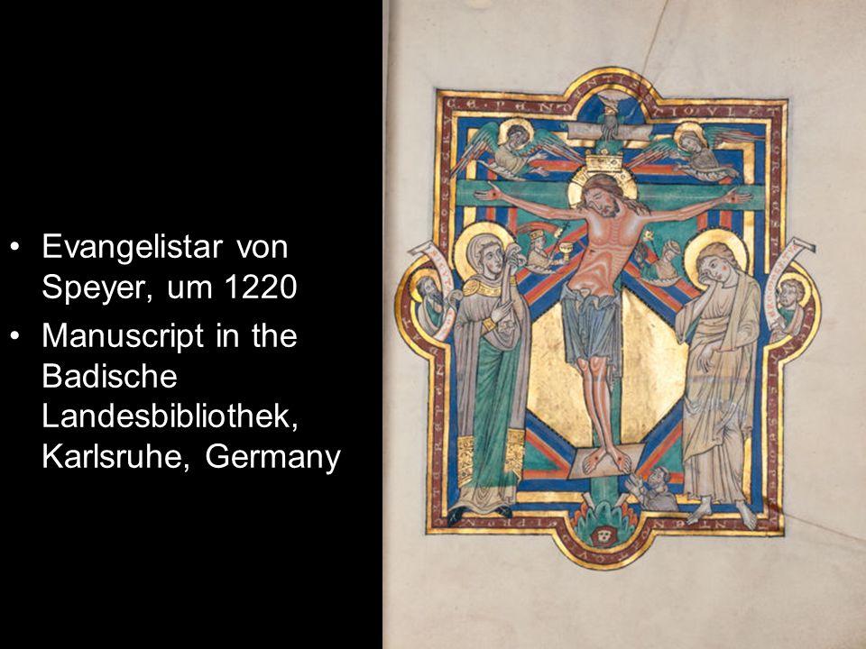 Evangelistar von Speyer, um 1220 Manuscript in the Badische Landesbibliothek, Karlsruhe, Germany