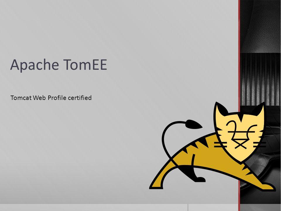 Apache TomEE Tomcat Web Profile certified