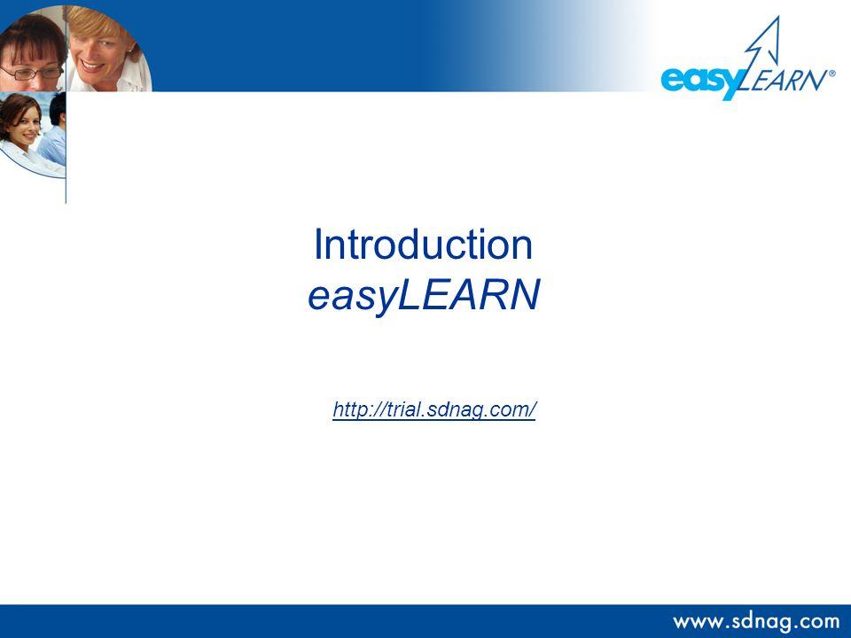 logo Introduction easyLEARN http://trial.sdnag.com/