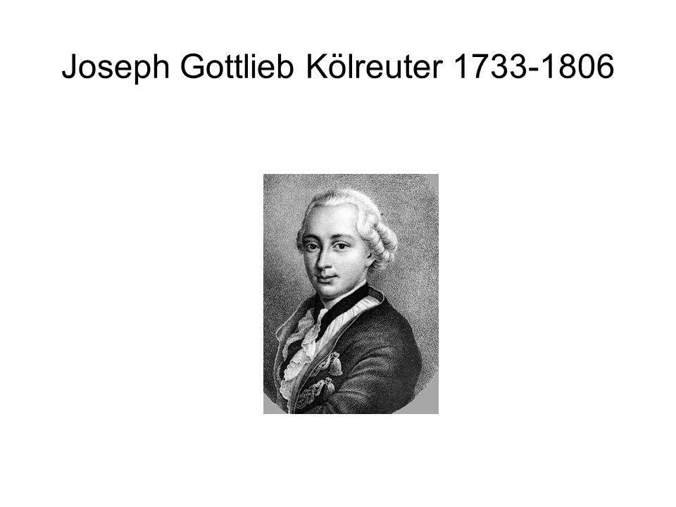 Joseph Gottlieb Kölreuter 1764 Ich glaube durch [die Verwandlung einer Pflanze in die andere] eben so viel geleistet zu haben, als wenn ich Bley in Gold, oder Gold in Bley verwandelt hätte.