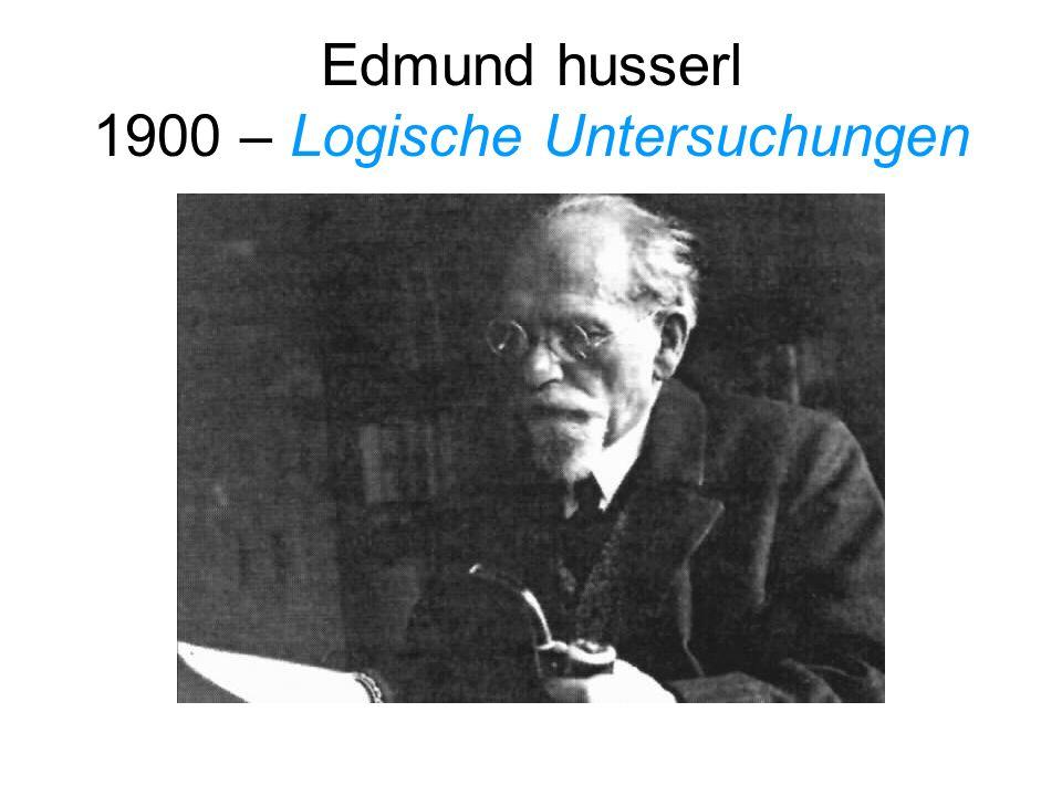 Edmund husserl 1900 – Logische Untersuchungen