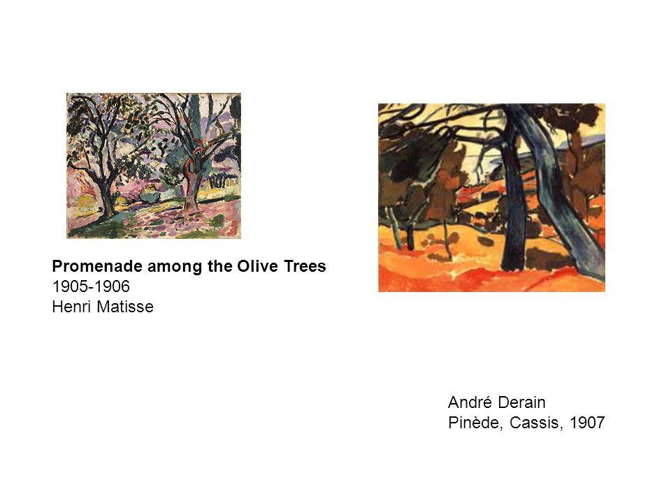 Promenade among the Olive Trees 1905-1906 Henri Matisse André Derain Pinède, Cassis, 1907