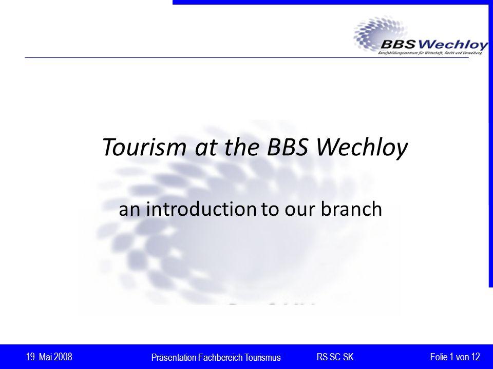 Präsentation Fachbereich Tourismus RS SC SK 19.