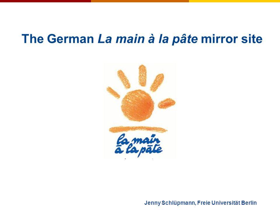 Jenny Schlüpmann, Freie Universität Berlin The German La main à la pâte mirror site Zentrierung auf kind dann pisa-schock