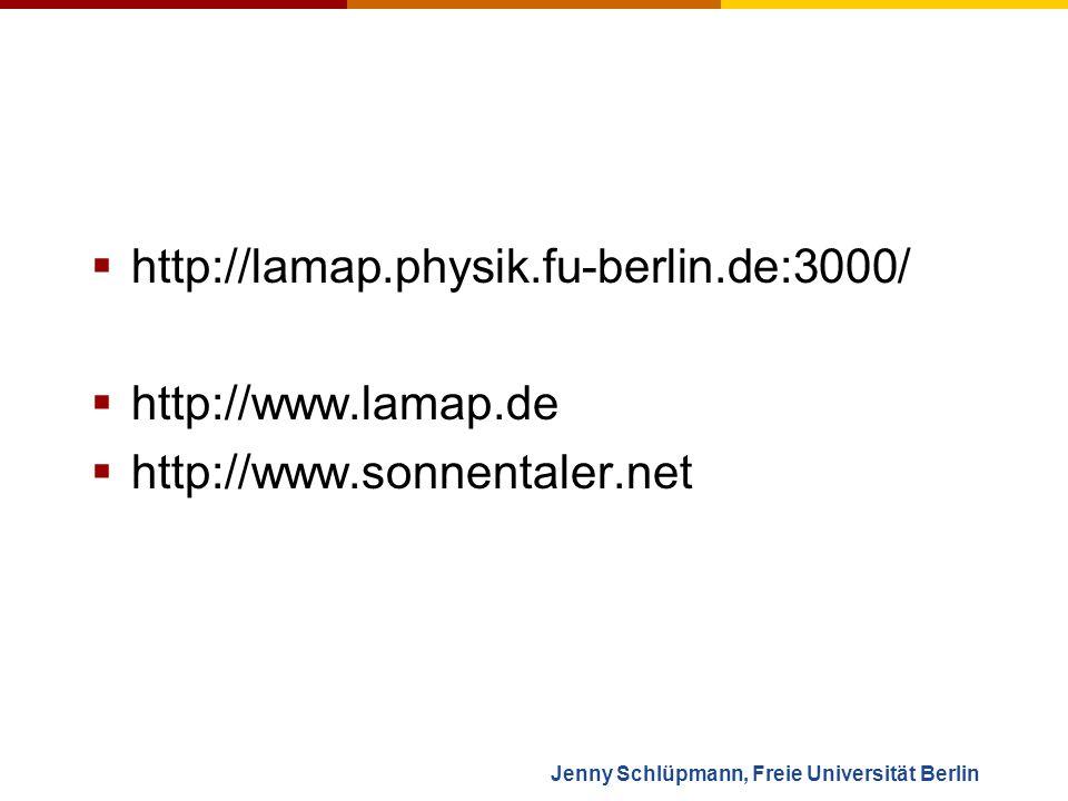 Jenny Schlüpmann, Freie Universität Berlin