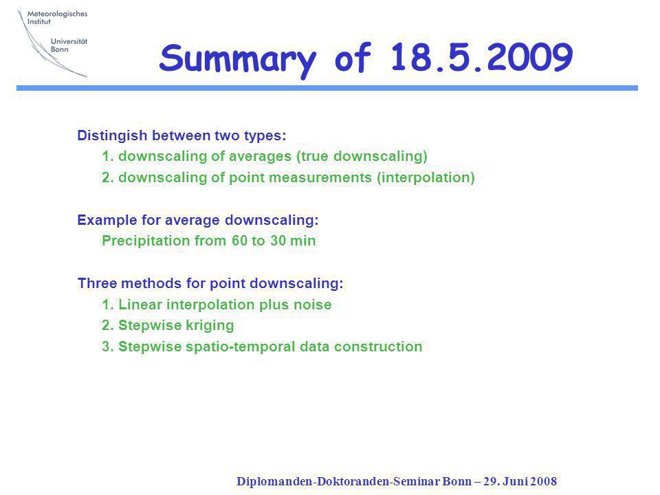 Diplomanden-Doktoranden-Seminar Bonn – 29.