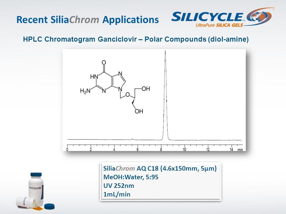 SiliaChrom AQ C18 (4.6x150mm, 5µm) MeOH:Water, 5:95 UV 252nm 1mL/min SiliaChrom AQ C18 (4.6x150mm, 5µm) MeOH:Water, 5:95 UV 252nm 1mL/min HPLC Chromat