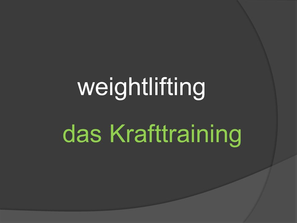 weightlifting das Krafttraining