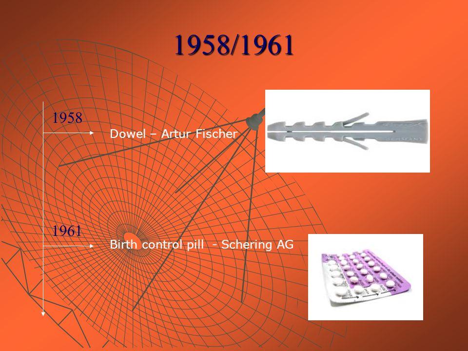 1958/1961 1961 1958 Dowel – Artur Fischer Birth control pill - Schering AG