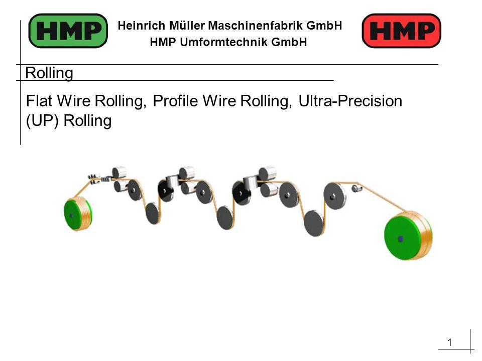 1 Heinrich Müller Maschinenfabrik GmbH HMP Umformtechnik GmbH Rolling Flat Wire Rolling, Profile Wire Rolling, Ultra-Precision (UP) Rolling