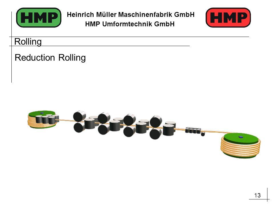 13 Heinrich Müller Maschinenfabrik GmbH HMP Umformtechnik GmbH Rolling Reduction Rolling