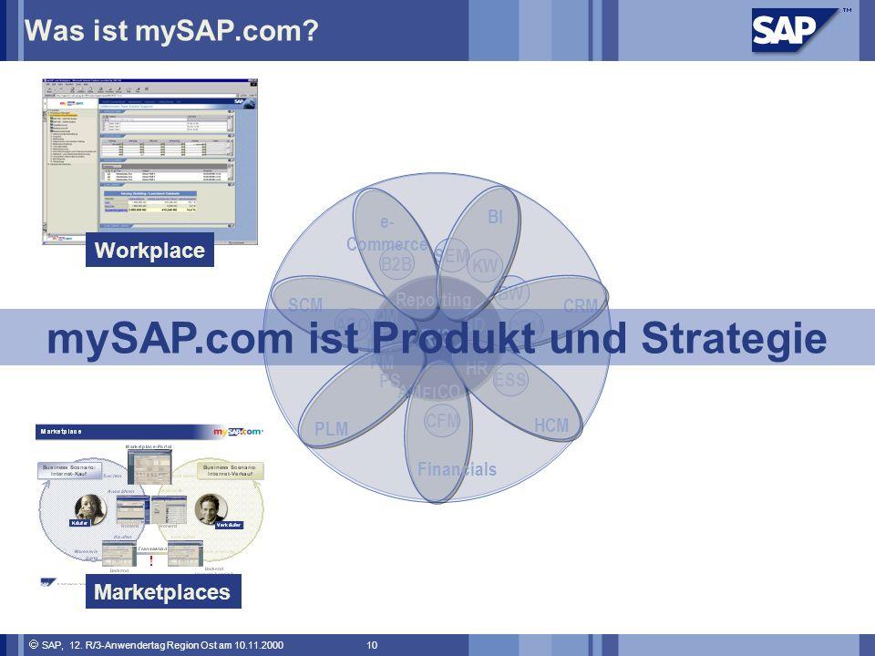 SAP, 12.R/3-Anwendertag Region Ost am 10.11.2000 10 Was ist mySAP.com.