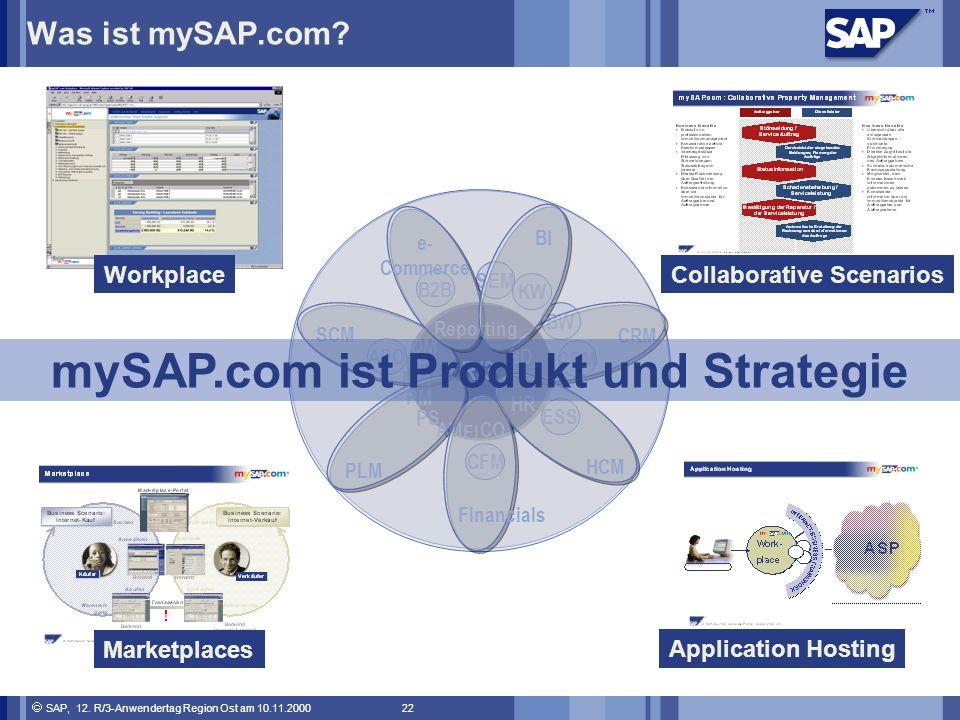 SAP, 12.R/3-Anwendertag Region Ost am 10.11.2000 22 Was ist mySAP.com.
