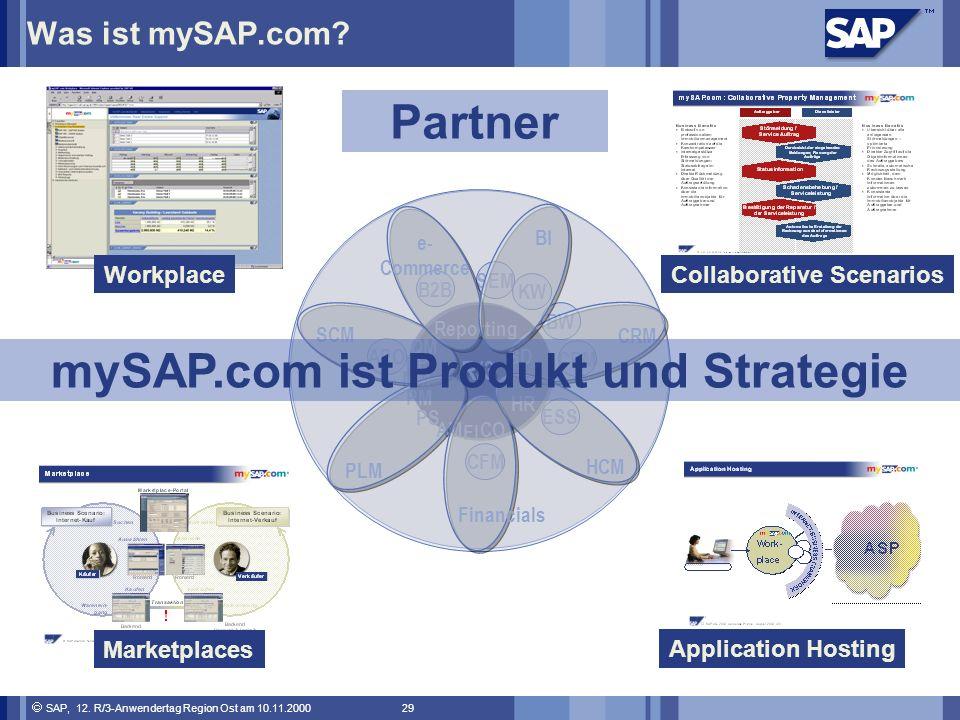 SAP, 12.R/3-Anwendertag Region Ost am 10.11.2000 29 Was ist mySAP.com.