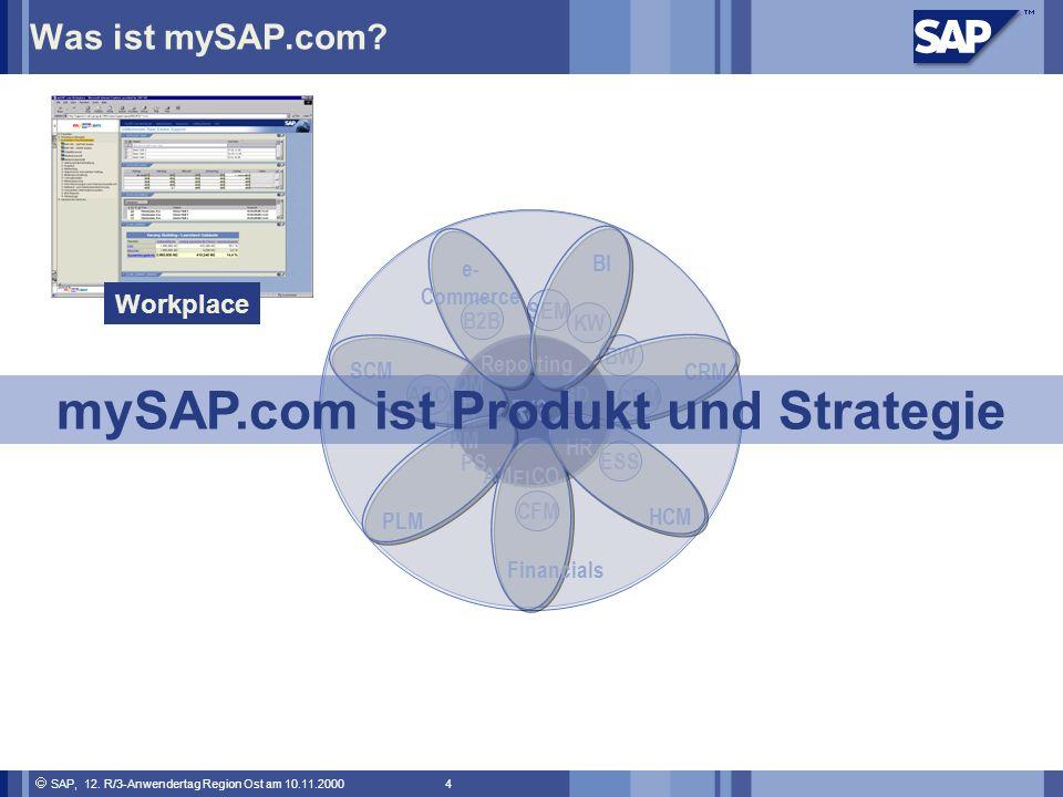 SAP, 12.R/3-Anwendertag Region Ost am 10.11.2000 4 Was ist mySAP.com.