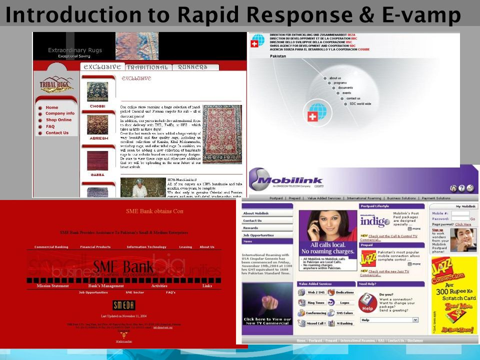 Introduction to Rapid Response & E-vamp