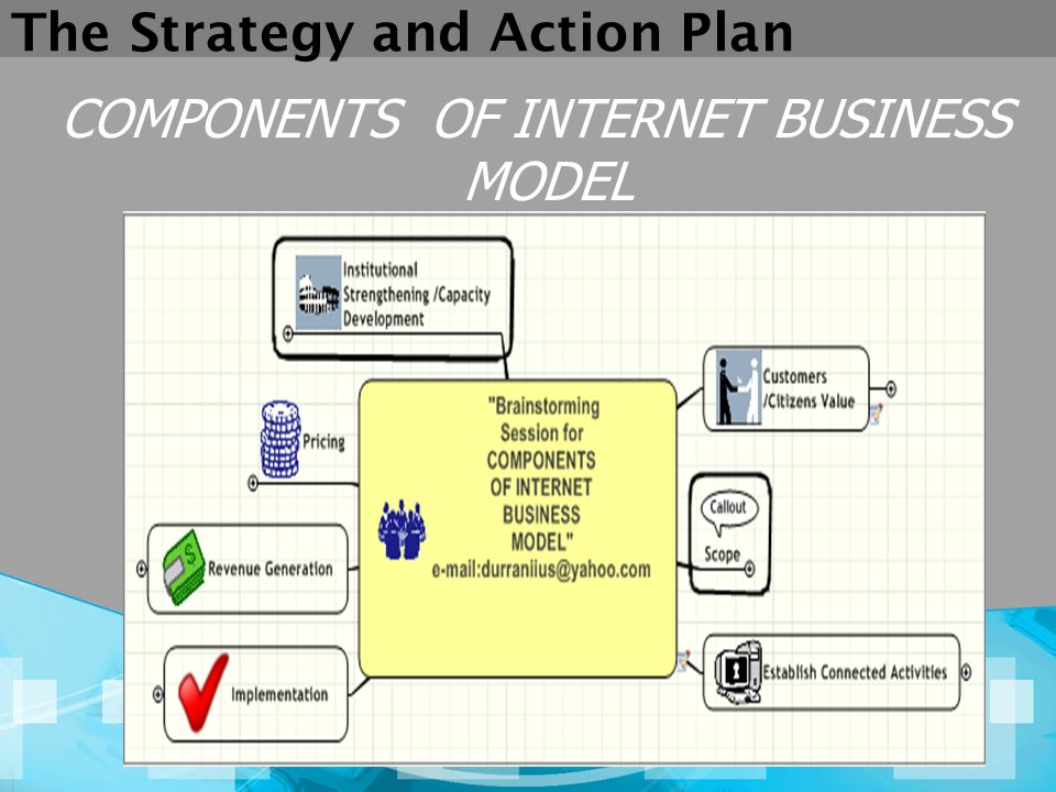 The Strategy and Action Plan COMPONENTS OF INTERNET BUSINESS MODEL
