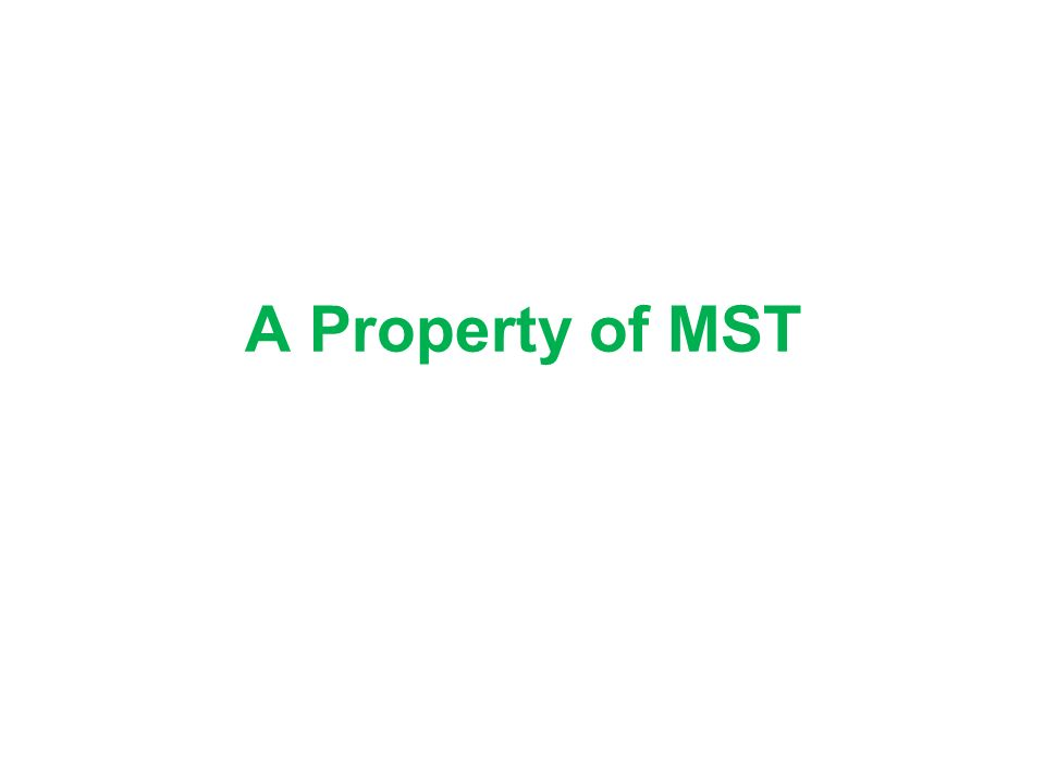 A Property of MST