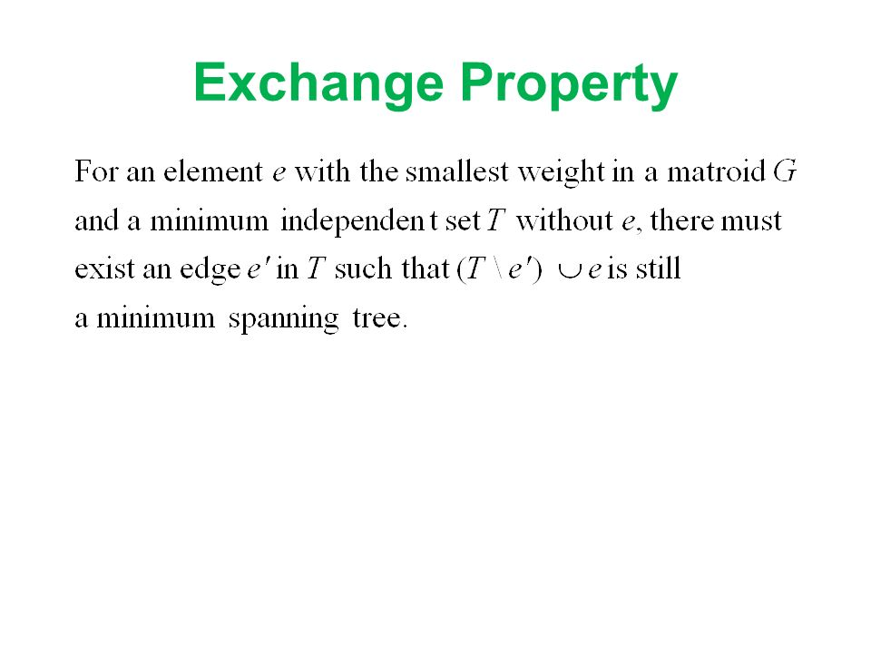 Exchange Property