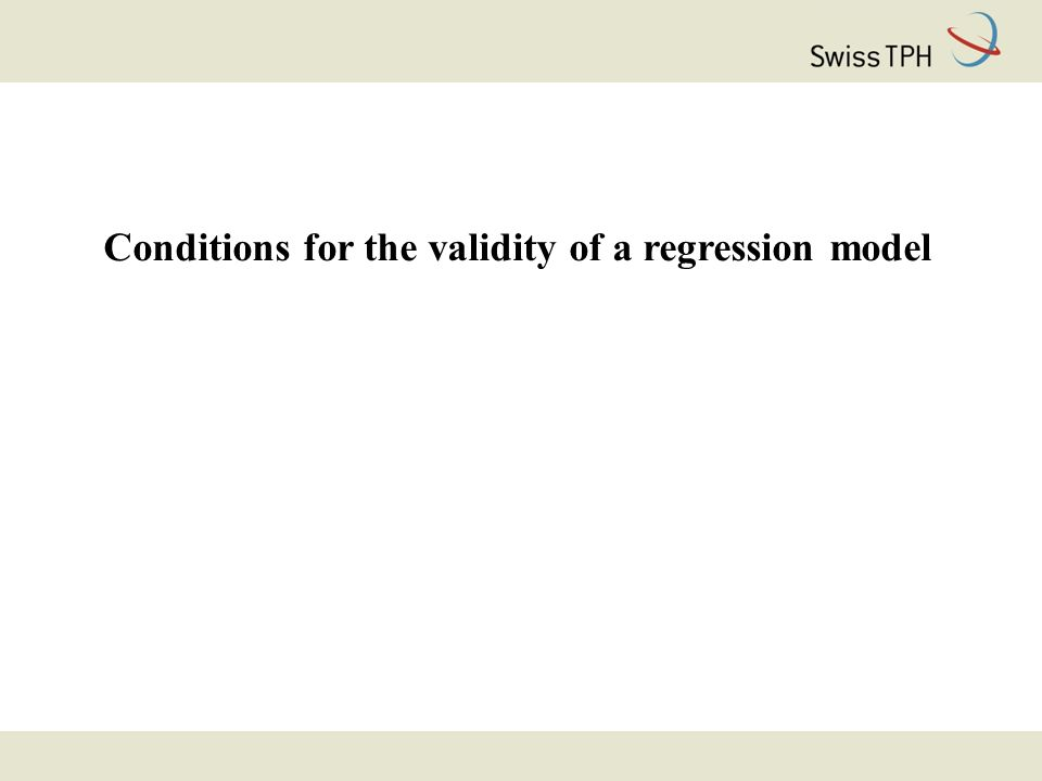Conditions for the validity of a regression model