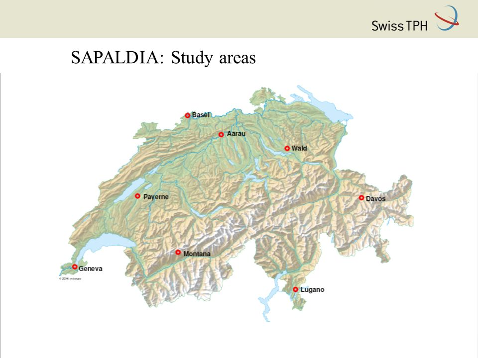 SAPALDIA: Study areas