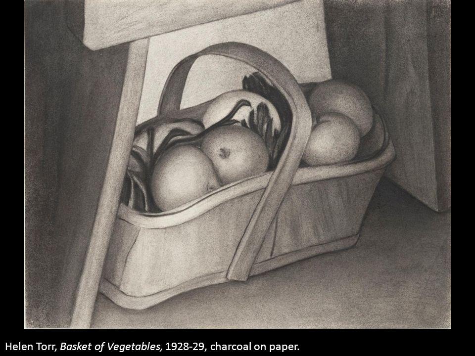 Helen Torr, Basket of Vegetables, 1928-29, charcoal on paper.