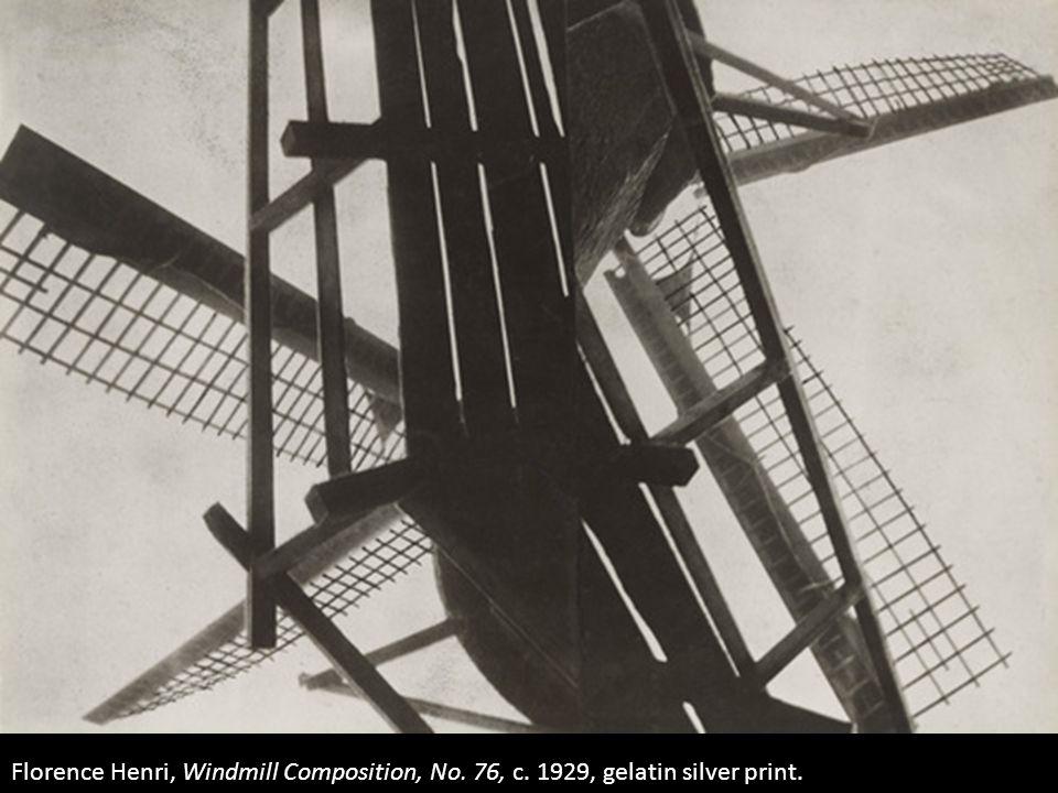Florence Henri, Windmill Composition, No. 76, c. 1929, gelatin silver print.