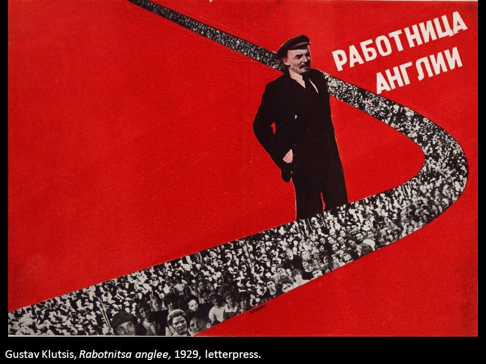 Gustav Klutsis, Rabotnitsa anglee, 1929, letterpress.