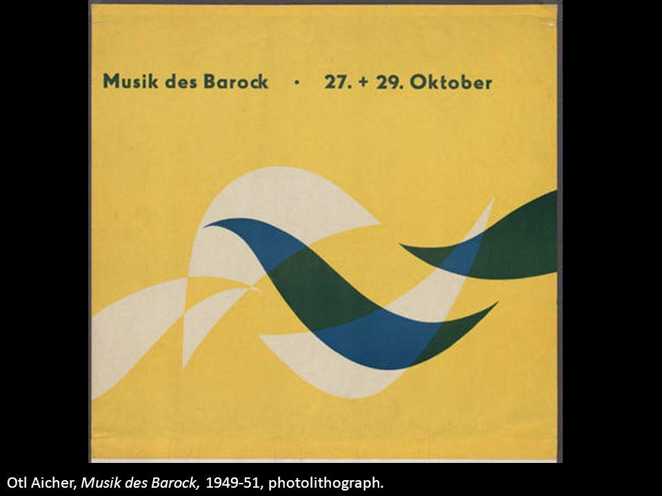 Otl Aicher, Musik des Barock, 1949-51, photolithograph.