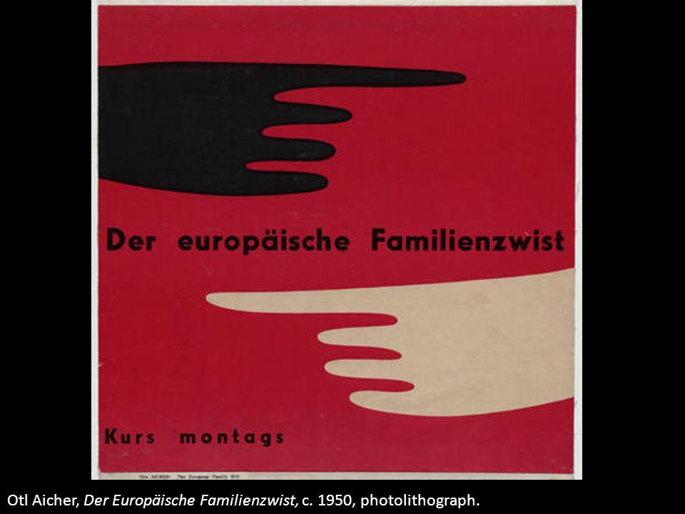 Otl Aicher, Der Europäische Familienzwist, c. 1950, photolithograph.