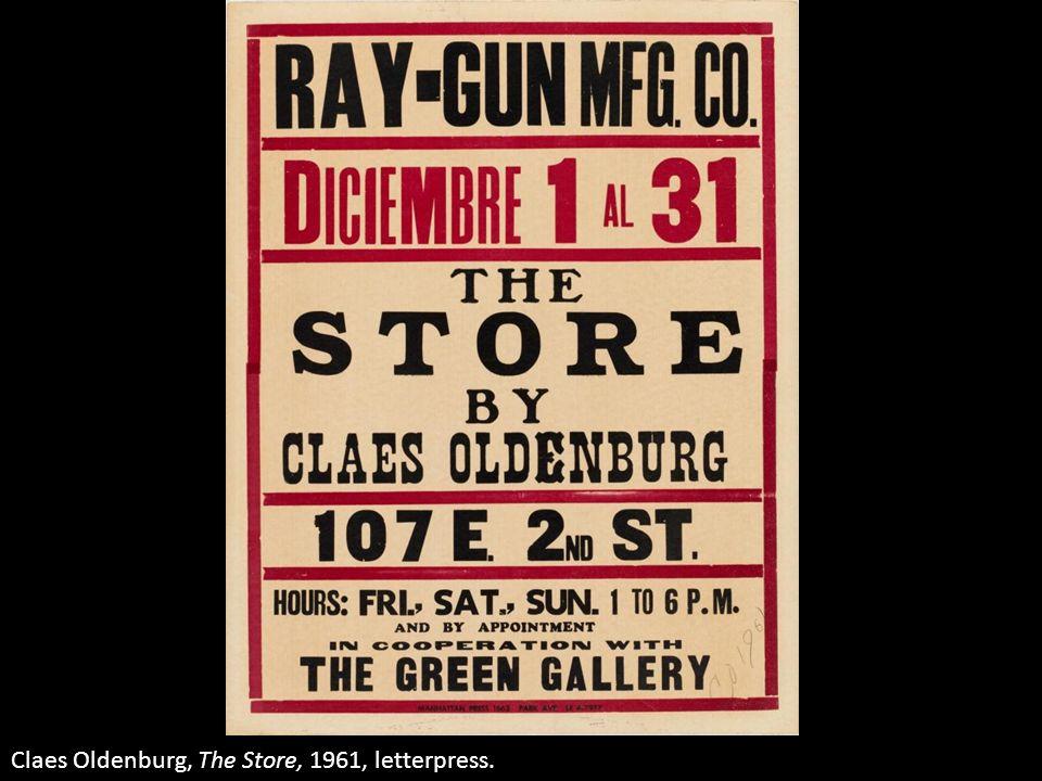 Claes Oldenburg, The Store, 1961, letterpress.