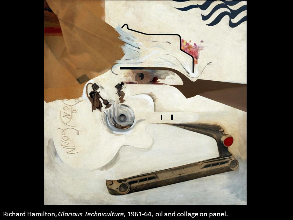 Richard Hamilton, Glorious Techniculture, 1961-64, oil and collage on panel.
