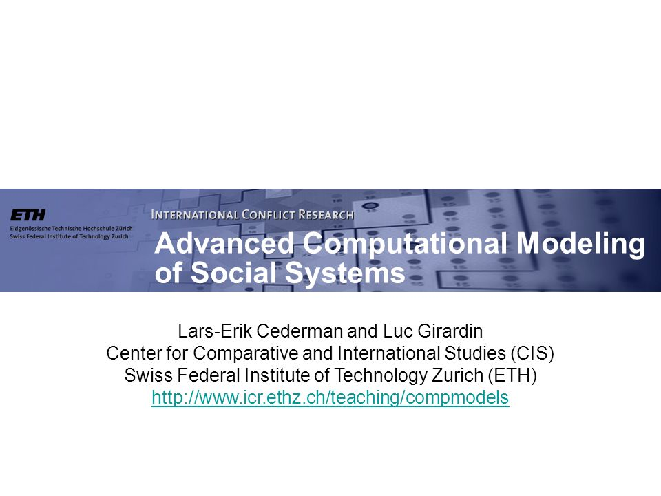 Lars-Erik Cederman and Luc Girardin Center for Comparative and International Studies (CIS) Swiss Federal Institute of Technology Zurich (ETH) http://w