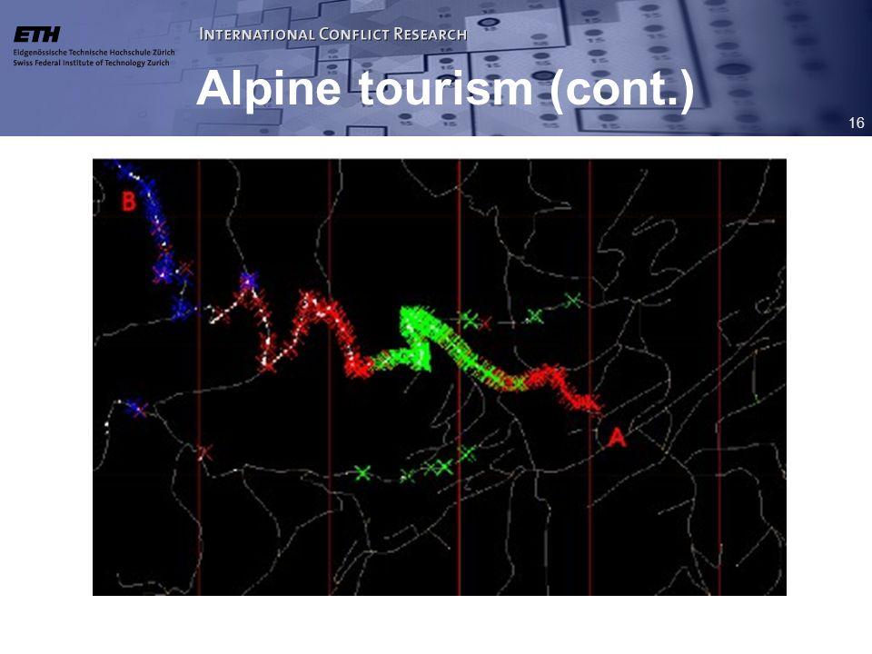 16 Alpine tourism (cont.)