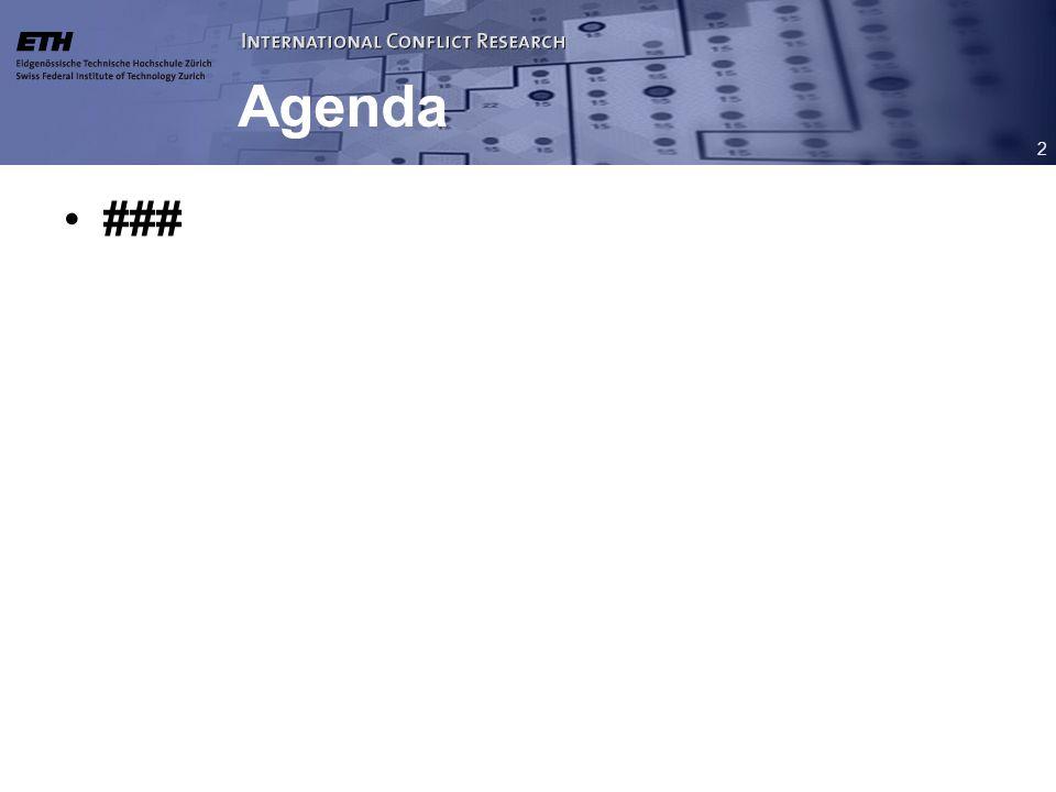 2 Agenda ###