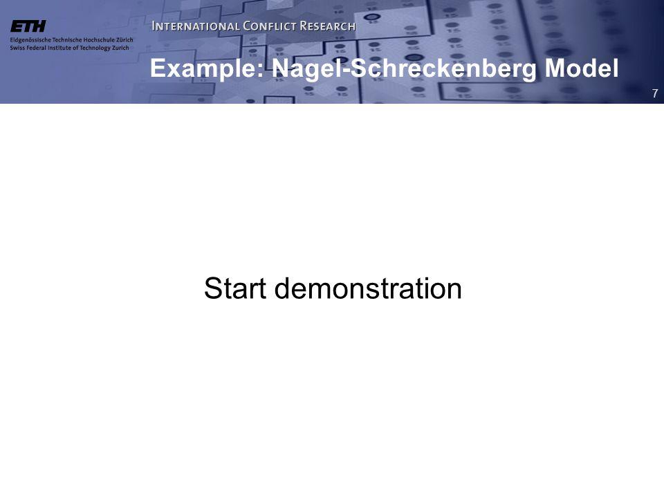 7 Example: Nagel-Schreckenberg Model Start demonstration