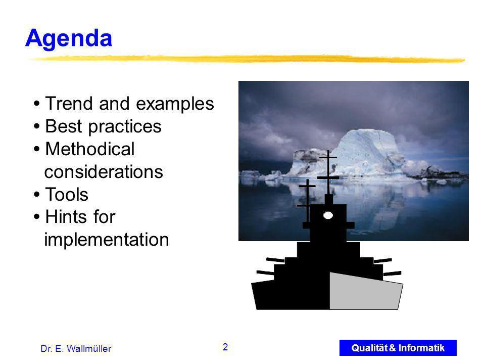 3 Qualität & Informatik Dr.E. Wallmüller Challenges: New Business Models e.g.